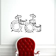 music instrument drum wall stickers home decor kids bedroom wall decals vinyl art stickers on wall decal vinyl art stickers decor with music instrument drum wall stickers home decor kids bedroom wall