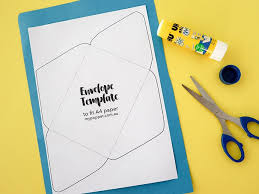 Printable Envelope Template Diy Recycled Paper Envelopes With Printable Template My