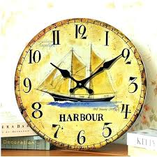 large clocks antique wooden wall clock decorative sail anchor fun sailing metal for nz huge
