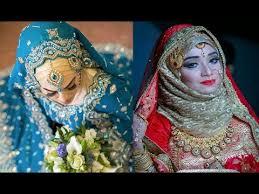 beautiful hijab brides asian traditional bridal makeup tutorial with hijab setting