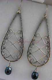 Designer Wire Jewelry Pretty Wire Work Design Wirejewelry Wire Jewelry Earrings