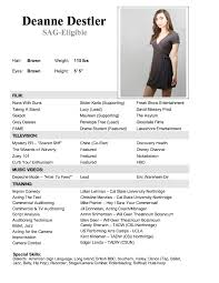 Acting Resume Sample child acting resume sample