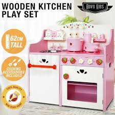 rovo kids wooden pretend kitchen role play set toy children cookware toddler by rovo kids