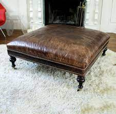 brown leather ottoman leather ottoman