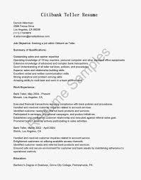 resume bank of america teller positions good resume for bank teller