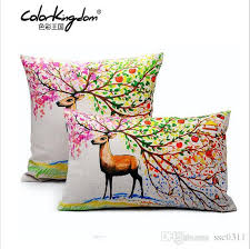 Small Picture Customized Nordic Style Color Deer Pillow Cover 45CM 45CM 30CM