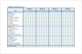 Blank Chore Chart For Adults Chore Roster Template Jasonkellyphoto Co
