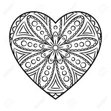 Coloriage Mandala Coeur Et Amour