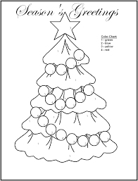 Easy Christmas Color Number Christmas Coloring Pages Free Printable