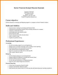 Fresh Financial Analyst Resume Junior Financial Analyst Job