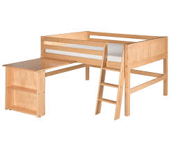 camaflexi full loft bed with desk in cappuccino finish efd