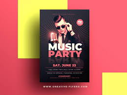 Concert Flyer Templates Free Music Party Psd Flyer Template By Rome Creation On Dribbble