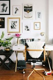 meagan home office. gallery wall white and gold desk inspiration office interior design decor ideas creative space dream workspace meagan home n