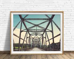 Industrial Wall Decor Bridge Architecture Abstract Industrial Decor Industrial Wall