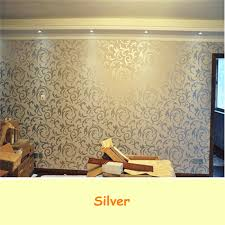 the best price wall paper roll home decoration wallpaper living room tv  background bedroom sliver color