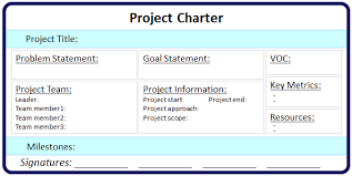 project charter sample project charter continuous improvement toolkit