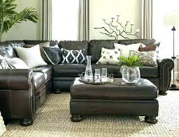 living room decor with brown leather sofa dark brown couch living room dark brown furniture living