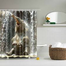 cool shower curtains for kids. Adorable 3D Elephant Pattern Waterproof Shower Curtains For Kids BathroomS Cool U