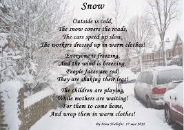 snow poems