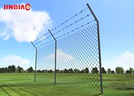 Blue Fence Designs 6mm X 25mm White Pvc Coated Wire Mesh Fence Designs Jinbiao