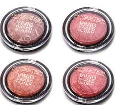 makeup revolution including 4 blushers and 4 foundation