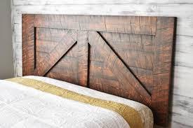 Barn door bedroom furniture Thin Image Etsy Barn Door Headboard Queen Wood Headboard Wall Mounted Etsy