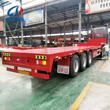 Flatbed Trailer Lights Hot Item 40 Feet 3axles Flatbed Trailer Flatbed Semi Trailer Container Trailer For Sale
