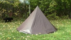 make a tarp tent tipi hot tent on the