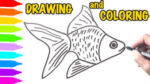 Cute Fish Coloring Pages Learn Drawing And Painting For Kids Youtube