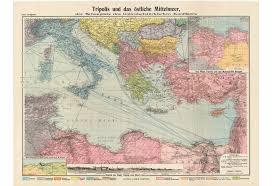 Italienisch (mittelalterliches italienisch) → italienisch. Italo Turkish War 1911 2 Karte Von Tripolis Und Dem Ostlichen Mittelmeer Dem Schauplatz Des Italienisch Turkischen Konfliktes Dasa Pahor
