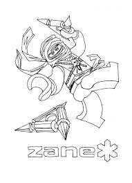 Coloring Pages Ninjago Zane And The Rest Of The Ninja Legothema