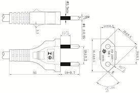 2 pin plug power cord 2 pin plug power cord product drawing