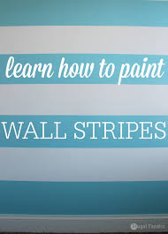 learn how to paint a striped wall