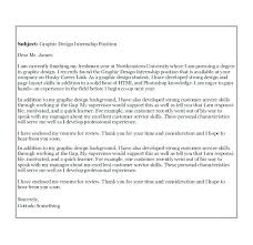 Graphic Design Cover Letter Template Onlineemily Info