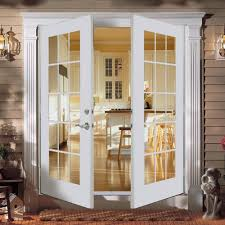 exterior steel double doors. Insulated Exterior Doors Steel White Framed French Double Classic Outdoor Wall