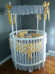 round white baby crib modern white round baby crib with amazing gray themed  canopy accessories also . round white baby crib ...