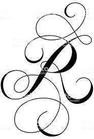 書道アルファベット R いたずら書きのベクターアート素材や画像を多数