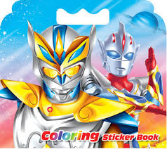 16 pages ultraman coloring sticker book for children relieve stress kill time graffiti painting drawing art book in books from office