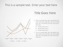 Business Comparison Line Chart Powerpoint Template