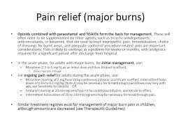 best pain relief for burns