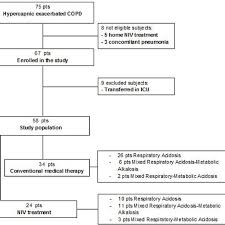 Flow Chart Of The Consecutive Copd Patients With Acute