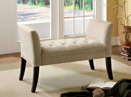 Padded Bench For Bedroom Amazoncom Furniture Of America Venetian Fabric Vanity Bench