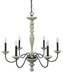 farmhouse chandeliers distressed wood chandelier french country rustic 6 light no crystal shabby white