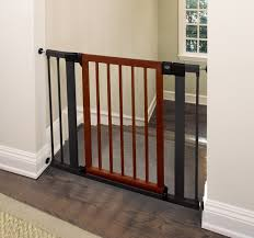 munchkin  wood steel designer gate (dark woodsilver) amazon