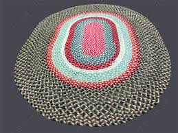 superb antique american folk art braided rug rr2551
