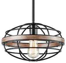lighting vintage retro hanging pendant wrought iron wood paint ceiling light