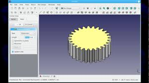Freecad Gear Design Tinkercad Super Easy Spur Gear Howto Using Freecad