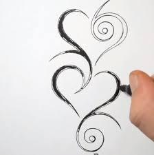 как нарисовать тату сердца карандашом поэтапно