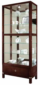 Curio Cabinet Lights Contemporary Curio Cabinets The Clock Depot