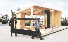 Small Picture viVood Prefab Tiny House Assembles in One Day